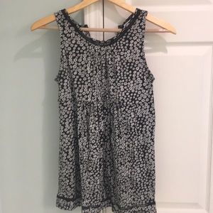 Maternity Black Flower Print Tank - Preowned